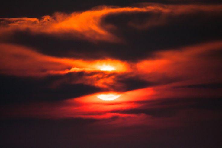 sunset at sabi sabi