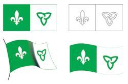 Drapeau franco-ontarien | Association canadienne-française de l'Ontario du grand Sudbury