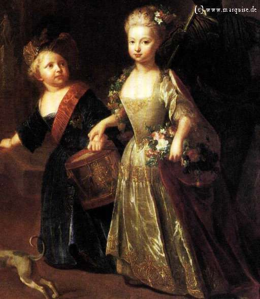 Friedrich of Prussia and his sister Wilhelmine