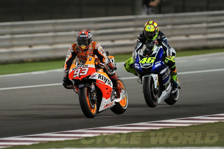 Marc Marquez and Valentino Rossi. What a race!