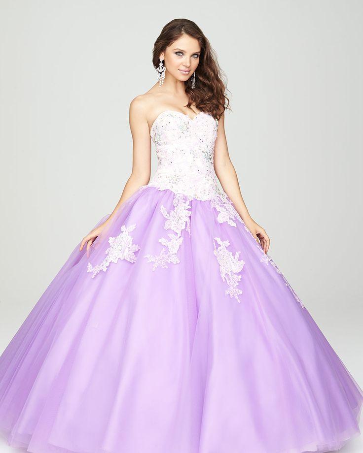 Perfecto Vestido De La Dama De Honor De Color Púrpura Claro ...