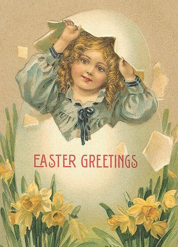 Vintage Easter Postcard   Free to use in your Art only, Not …   Flickr - Photo Sharing!