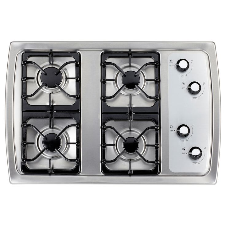 DÅTID Gas Cooktop, Stainless Steel $379