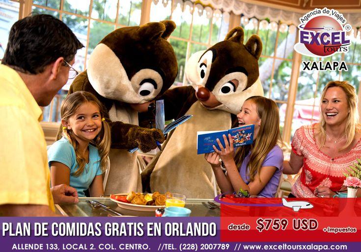 Plan de comidas GRATIS en Orlando, aprovecha y Reserva hoy mismo! | Agencia de Viajes en Xalapa Excel Tours
