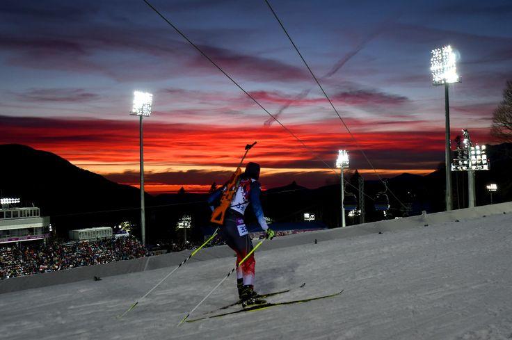 Красивый закат. Олимпийские Игры 2014. #спортивноеосвещение #olympicgames #олимпиада2014 #sochi