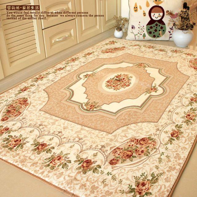 Marque européenne à manger rustique tapis, Élégante méditerranéenne Roses chambre tapis, Moderne de luxe grand tapis