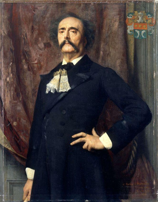 Emile Lévy (1826-1890), Portrait de Jules Amédée Barbey d'Aurevilly - 1882