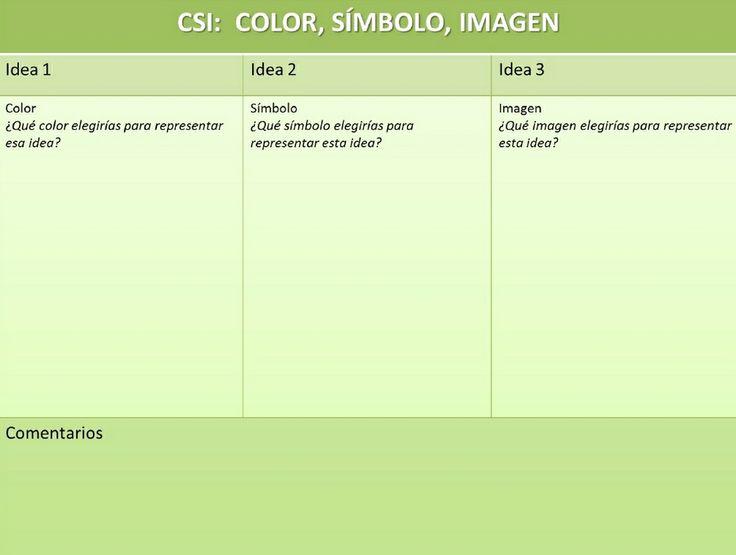 Rutina de pensamiento   Color-Símbolo-Imagen