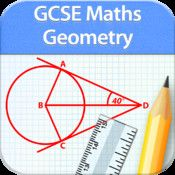 GCSE Maths : Geometry Revision app. Make your GCSE preparation a fun activity with our collection of GCSE apps. Here comes the most comprehensive Geometry app.Includes syllabus covered by all exams boards including OCR, EDEXCEL,AQA,WJEC and CCEA