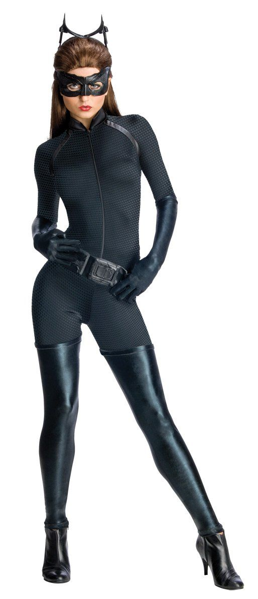 Catwoman New Movie™-Kostüm für Damen: Das Kostüm der berühmten Rächerin Catwoman™ setzt sich aus einem Anzug, Handschuhen, einem Gürtel, einem Haarreif und einer Maske zusammen. Der Anzug ist aus Stretch und...