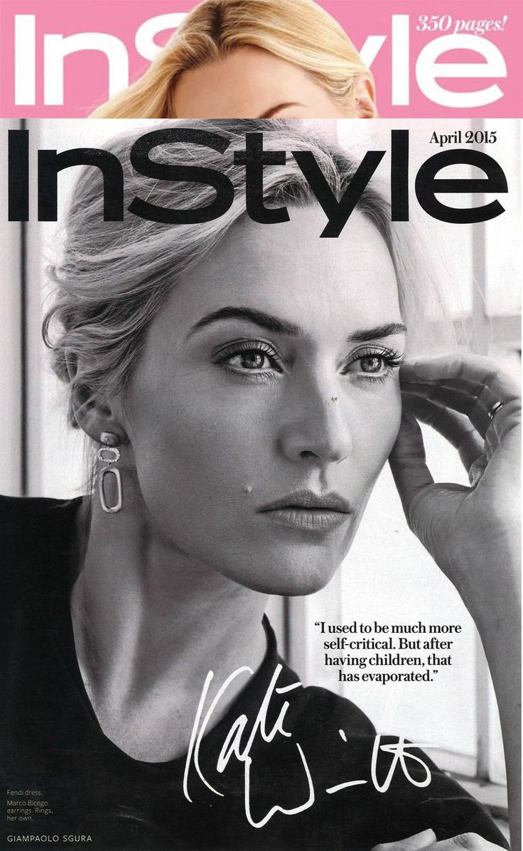 Kate Winslet wearing Marco Bicego Murano Gold and Diamond Link earrings. http://bit.ly/1PgIBxr