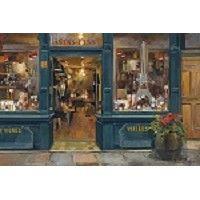 Парижский Винный магазин Мэрилин Хагеман французский Уличная сцена Искусство принтеров 24x36