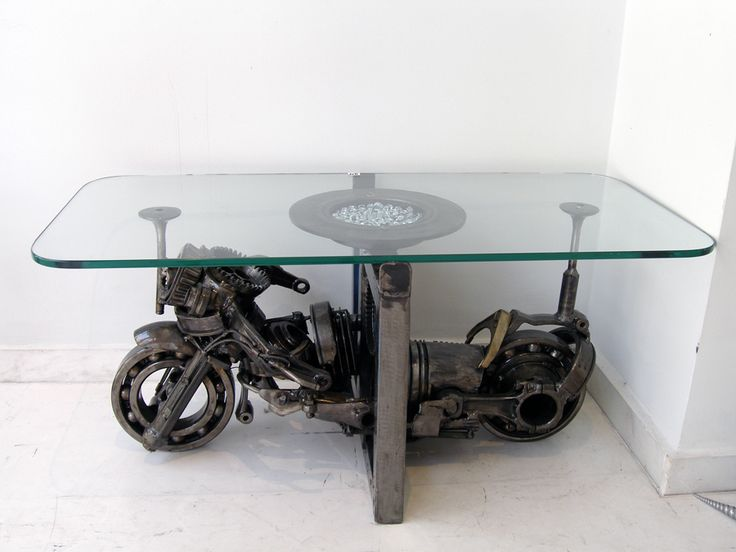Τραπέζι industrial από ανταλλακτικά αυτοκινήτου