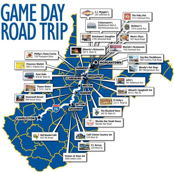 Game day road trip -- Hungry fans eat their way home across West Virginia