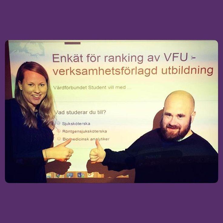 Vilken plats hamnar din skola på? Ordförande Sofia Persson och vice ordförande Joffen Kleiven vill ha din personliga åsikter om vad just du tycker om din VFU. Alla som läser termin 6 har fått ett mail och kan delta i enkäten. Ni är viktiga för oss, svara redan i dag!