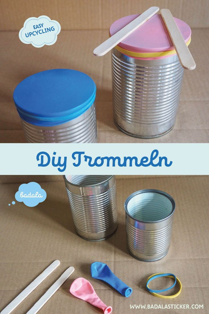 Bekannt Trommeln aus Dosen | DIY - Upcycling Ideen (upcycling ideas WL91