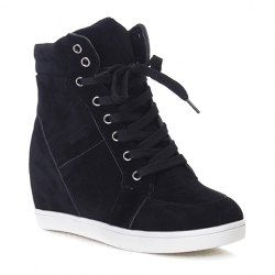 Easy Suede and Pure Shade Design Ladies's Athletic Footwear