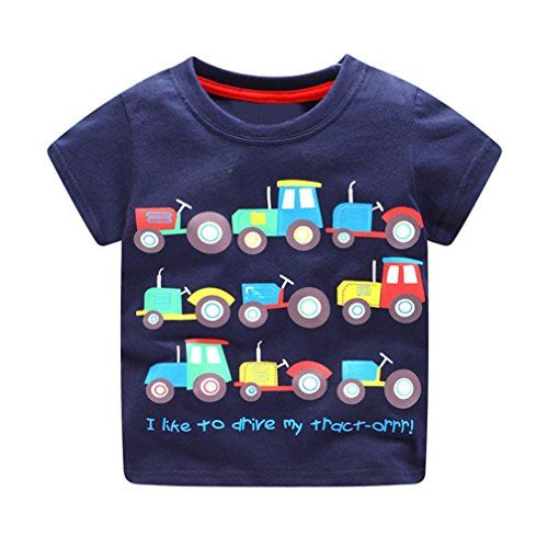 Toddler Infant Baby Kids Boys Cartoon Number Printing Tops Blouse Shirt Outfit A