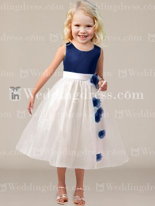 Flower Girl Dresses_Navy / Light Ivory
