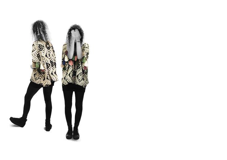 #azteclover #kimono #handmade #woll #tassels #one-of-a-kind #knitwear #cleogkatzeliinspirations #gkatzeli.com