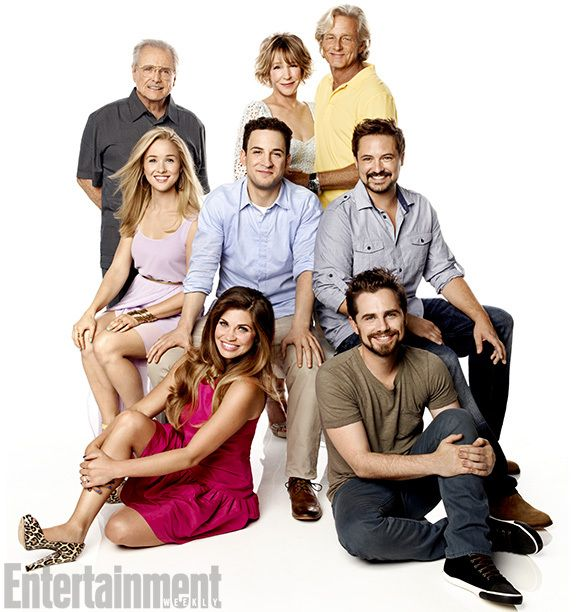Boy Meets World (2013) Top row: William Daniels, Betsy Randle, and William Russ Middle row: Lily Nicksay, Ben Savage, and Will Friedle Bottom Row: Danielle Fishel and Rider Strong