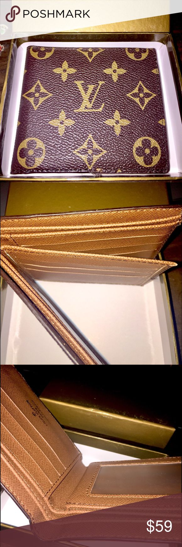 Louis Vuitton Wallet New brown Louis Vuitton men's Wallet w/box Bags Wallets