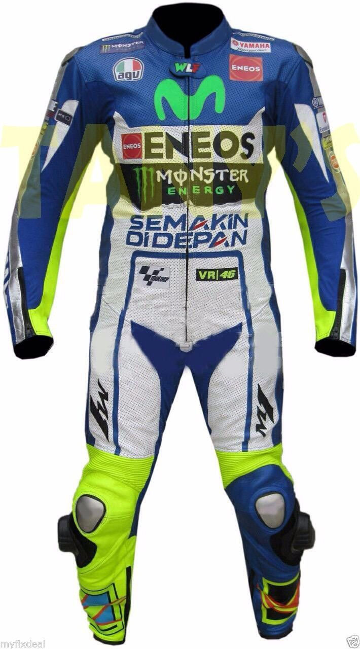 Valentino Rossi VR 46 Dainese Racing Suit. Available now at €525. All Sizes Available. Delivery Time: 10-15 working days. Free Delivery Worldwide. Email: motorgarments@gmail.com
