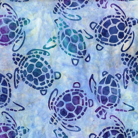 Dusk Sea Turtles Batik Bty Michael Miller By