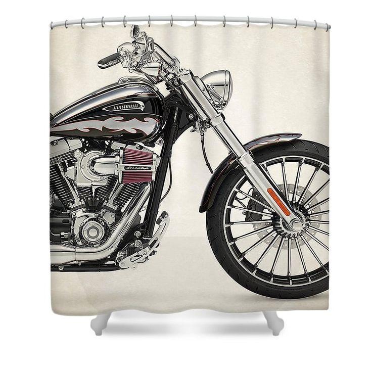 Harley Davidson Cvo Breakout 2014b Shower Curtain For Sale By Stephanie  Hamilton