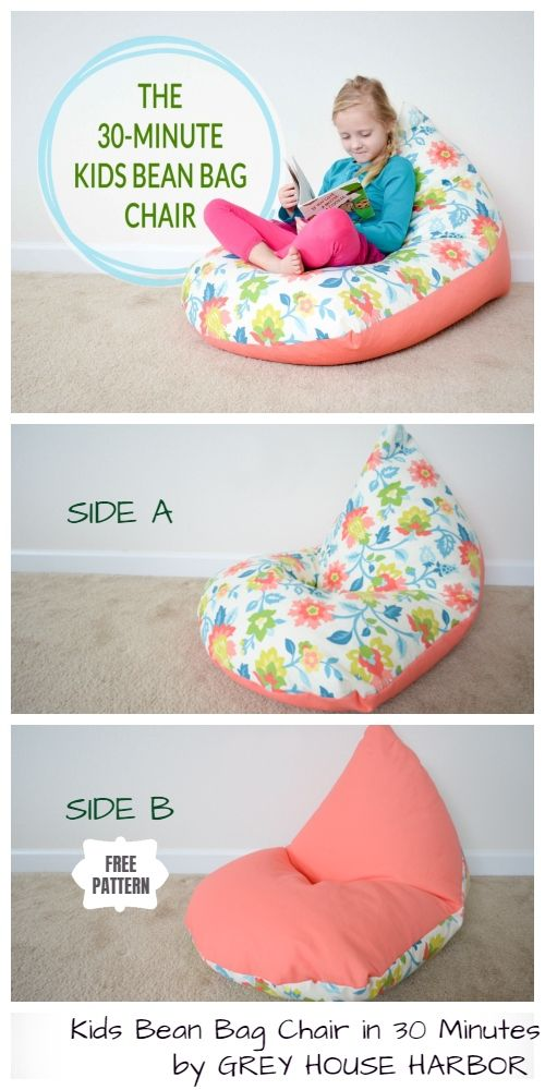 Tremendous Quick Diy Kids Bean Bag Chair Free Sewing Pattern Tutorial Caraccident5 Cool Chair Designs And Ideas Caraccident5Info