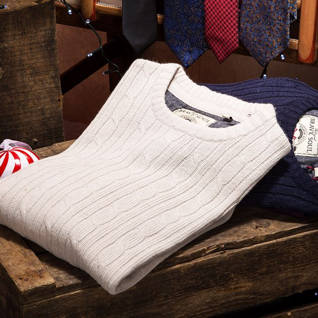 Layer up with quality and stylish light knitwear from brands such a Jack & Jones and Threadbare. Shop Christmas knitwear here: https://www.slaters.co.uk/christmas-gifts-for-men/knitwear-gifts#q=&idx=live_en_products&p=0&hFR[categories.level0][0]=Christmas%20%2F%2F%2F%20Knitwear%20Gifts&nR[visibility_catalog][=][0]=1&is_v=1