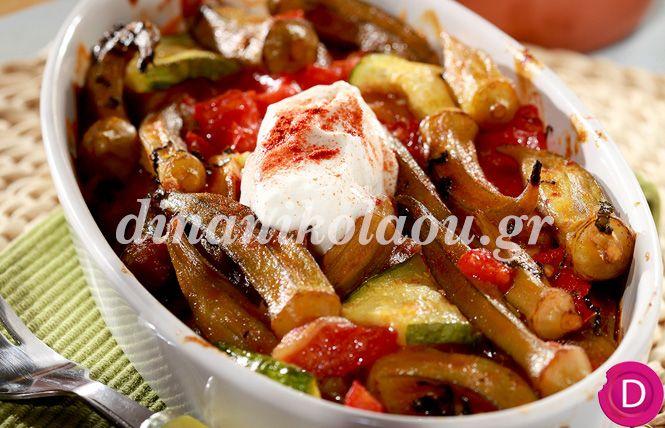 Μπάμιες στο φούρνο με γιαούρτι | Dina Nikolaou