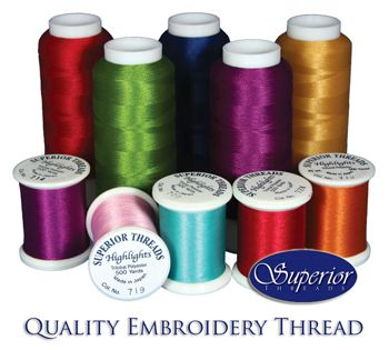 embroidery machine threads