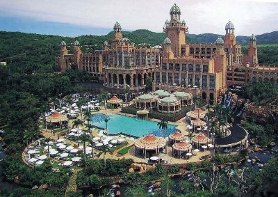 The Palace of the Lost City, South Africa - go on the worlds longest zip line & go on safari
