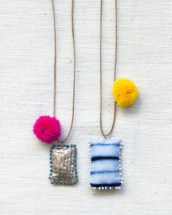 Festival Necklace with Pom Pom