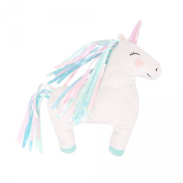 Offrez de la douceur mignonne Licorne magique d'une blancheur immaculée Coussin de déco original  #unicorn #licorne #unicornio #licornes #unicornpower 🦄