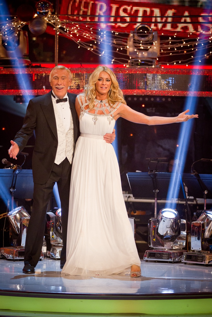 Strictly Come Dancing 2012-Tess Daly and Bruce Forsyth, Tess actually wears a nice dress-love this dress, so pretty