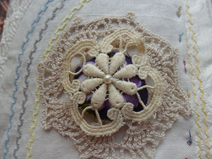 5 layers embroidered doilies, aw