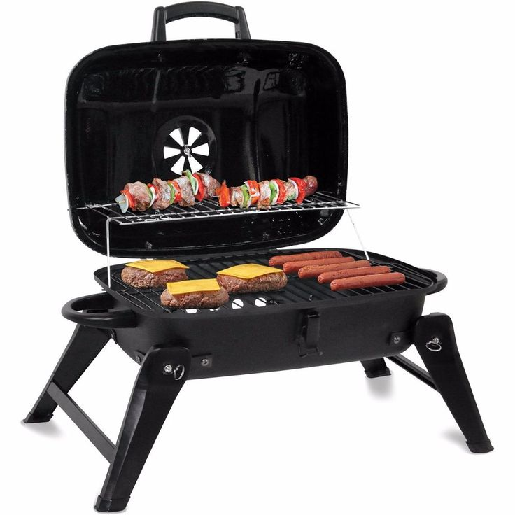 """Portable Charcoal Grill Barbecue Compact 18"""" Grill BBQ Camping Patio Backyard"""