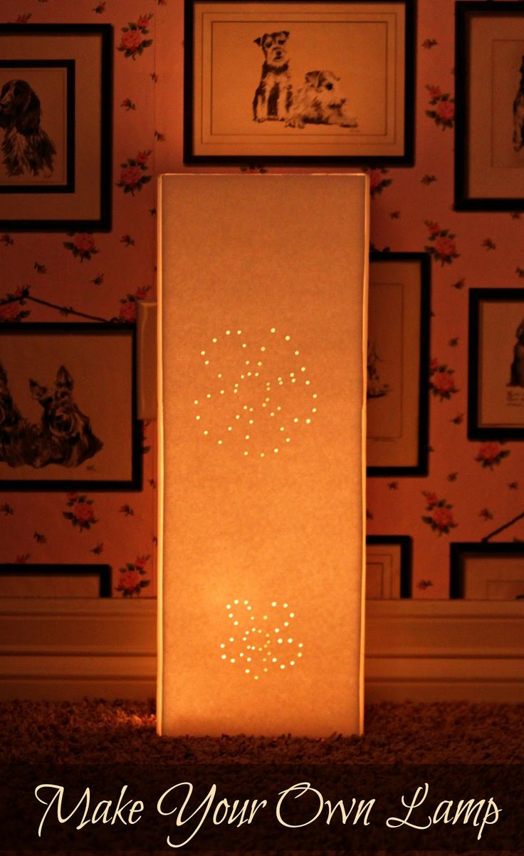 morena's corner: How to Make a Lamp with Foam Core Board