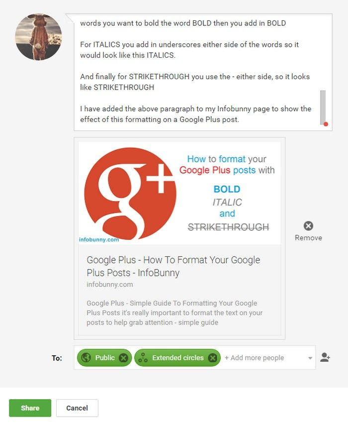 If you are looking for lots of engagement to your all your Google Plus social media posts, +1s, comments and reshares, then its is really important to make your content as interesting as possible
