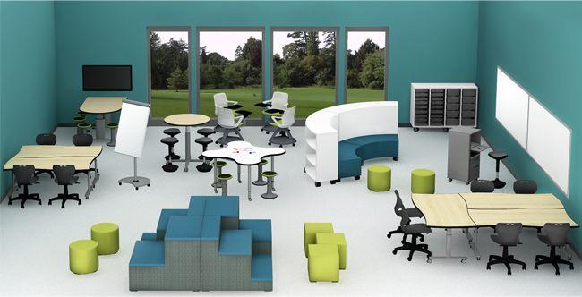 Classroom Layout Idea With Flexible Seating Collaborative Desks