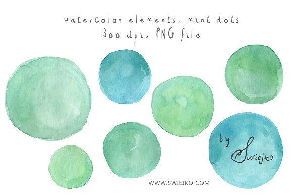 Watercolor Dots, Bubbles by swiejko on @creativemarket