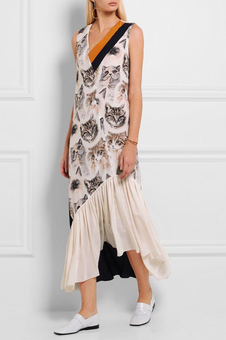 Стелла Маккартни | печатных шелковое платье | NET-A-PORTER.COM