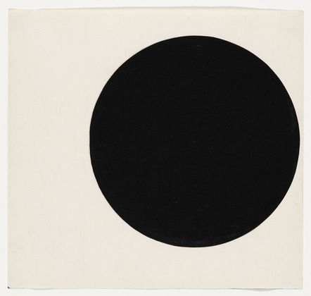 "Circle Form  Ellsworth Kelly (American, born 1923)  1951. Ink on paper, 7 1/2 x 8"" (19 x 20.3 cm). Gift of the artist and purchased with funds provided by Jo Carole and Ronald S. Lauder, Sally and Wynn Kramarsky, Mr. and Mrs. James R. Hedges, IV, Kathy and Richard S. Fuld, Jr. and Committee on Drawings Funds. © 2012 Ellsworth Kelly"