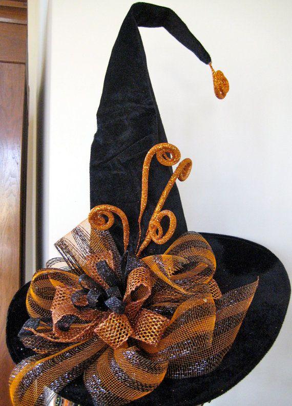 Las Brujas Hat Sombrero de bruja de por SprigsHolidayDecor en Etsy