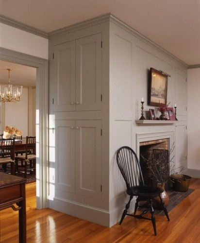 Farmhouse interior note how the doors windows and - Federal style interior paint colors ...
