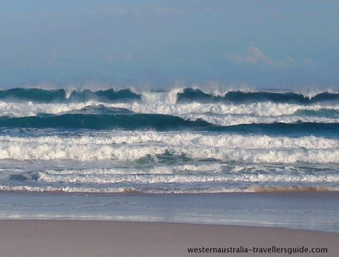 Wild waves at Conspicuous Beach on the south coast of Western Australia