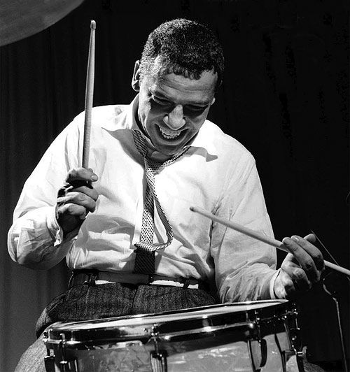 Buddy Rich and his snare drum. He was a rudimental monster!
