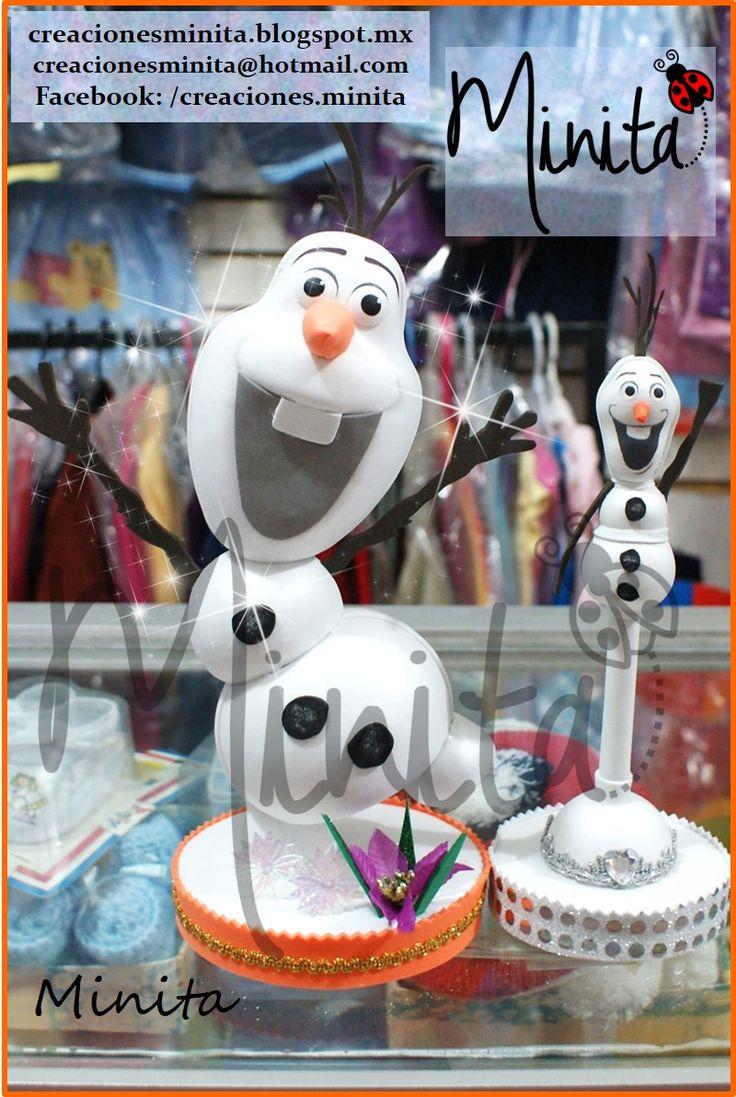 Centro de mesa Olaf de Frozen